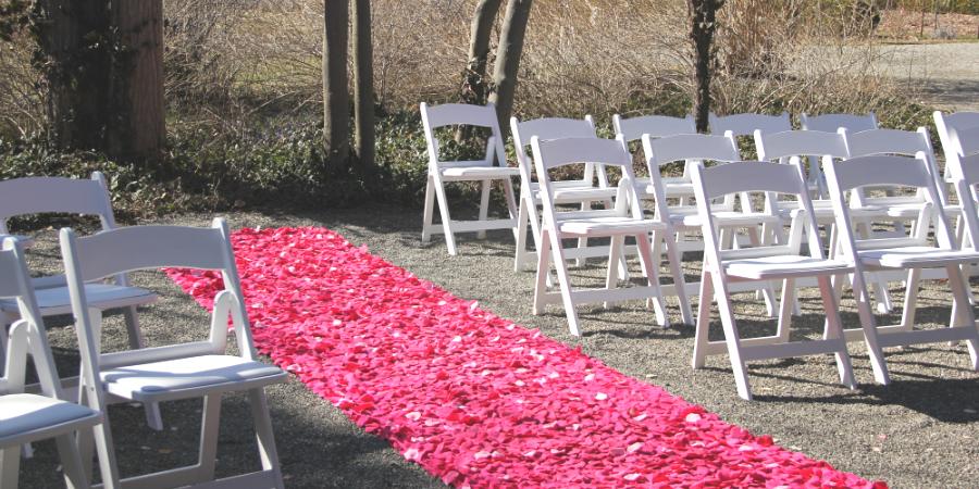 Flower Petal Aisle Runner | Set The Mood Decor