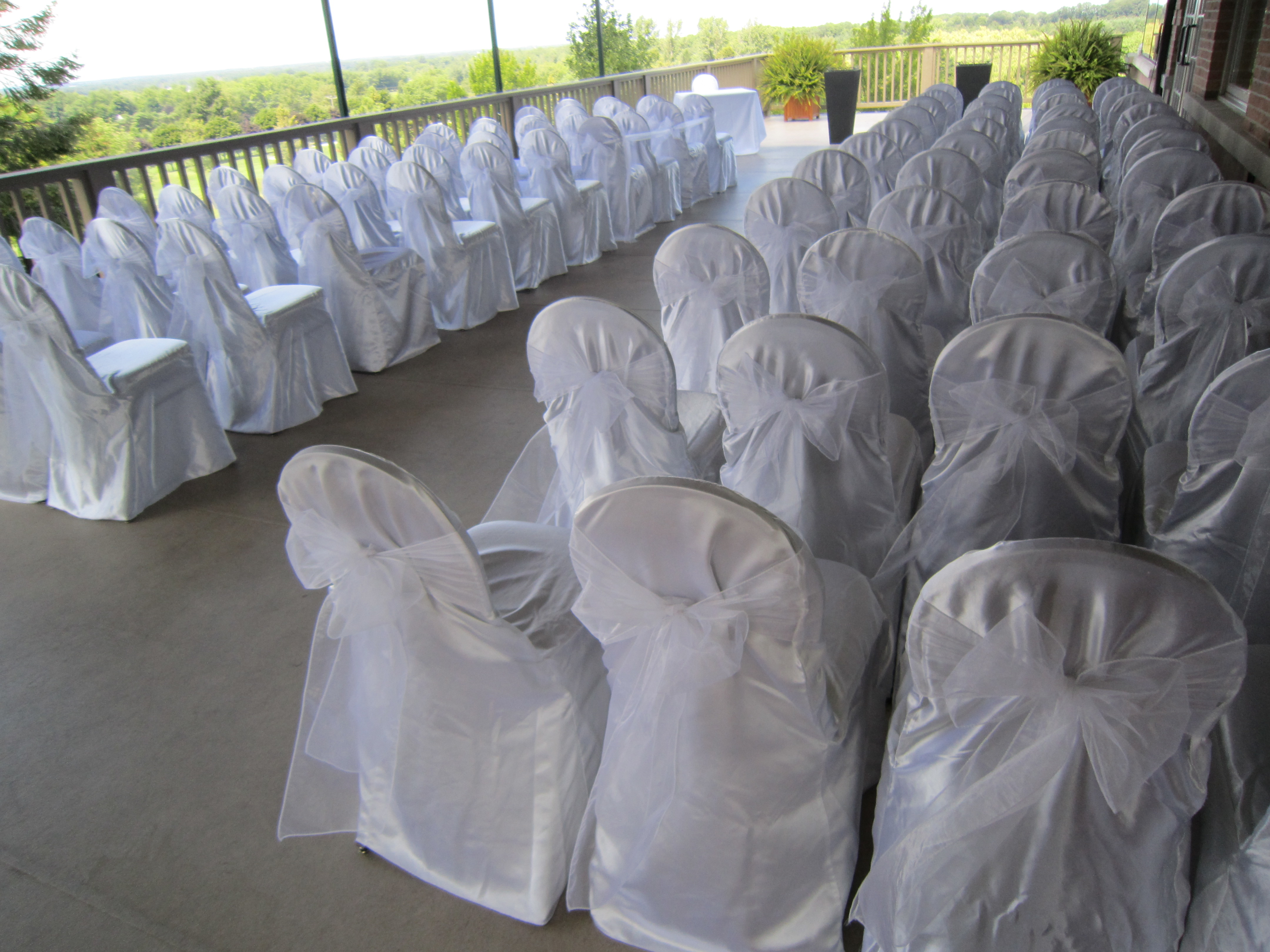 Wedding chairs black and white - White Chair Covers
