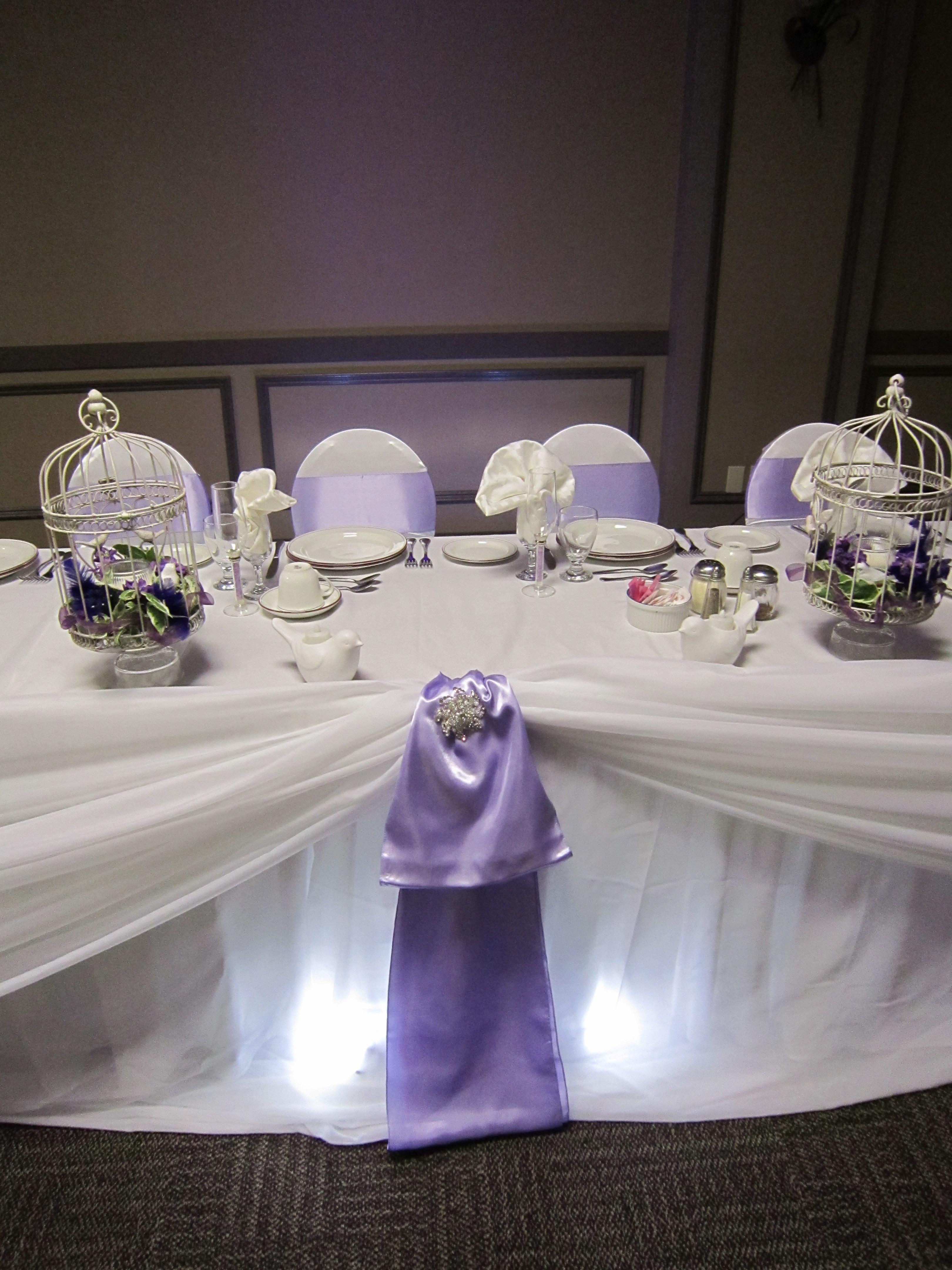Head Table With Spot Lights Set The Mood Decor