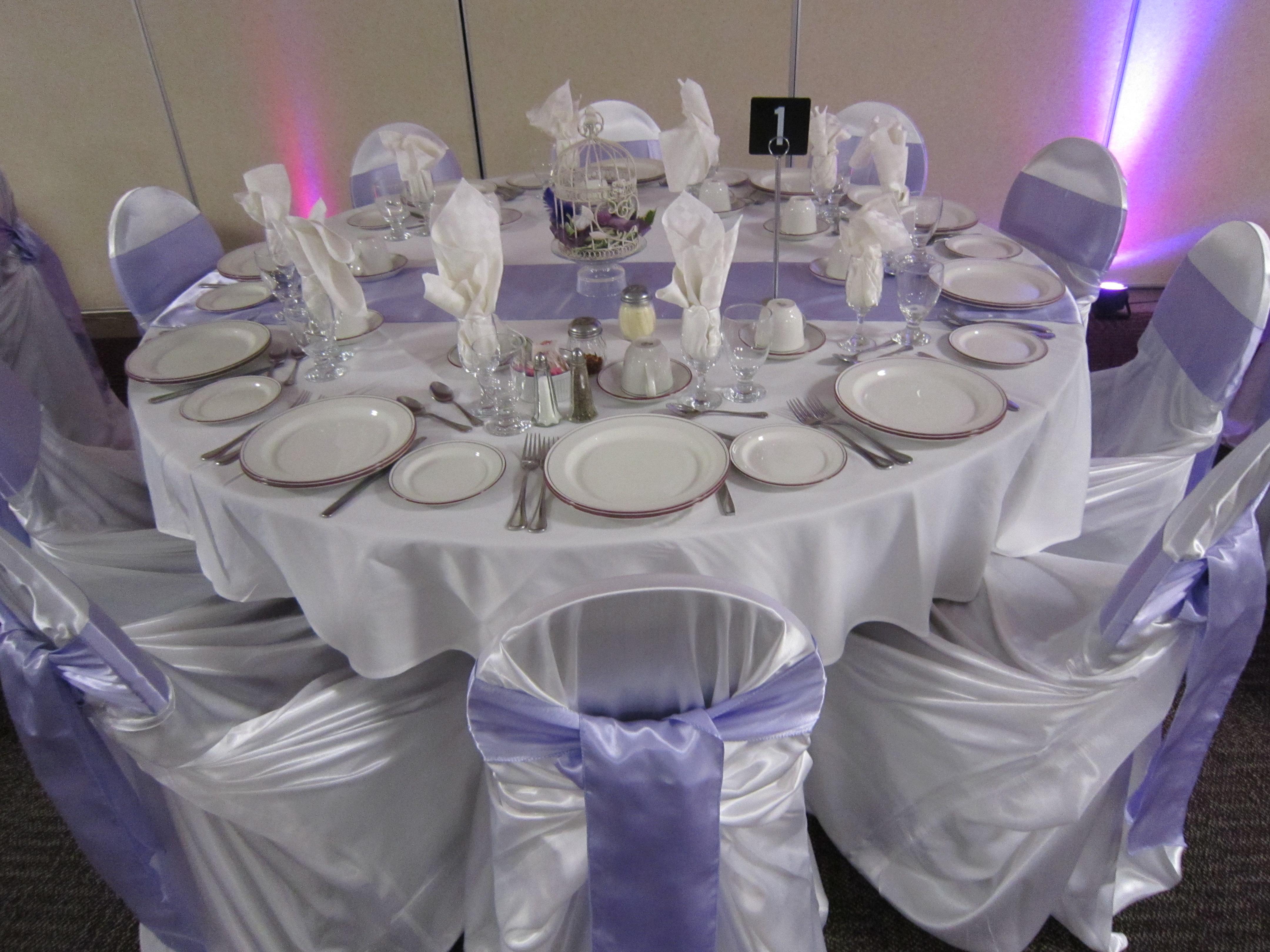 Lavender Club Capri Head Table Draping Niagara Wedding Decor