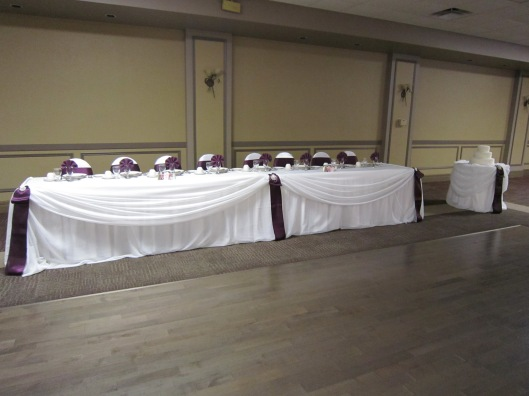 Plum Satin Wedding Decor